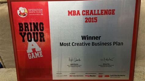Mba Competitions 2015 by Cityu Mba Won The Quot Most Creative Business Plan Quot At The Osc