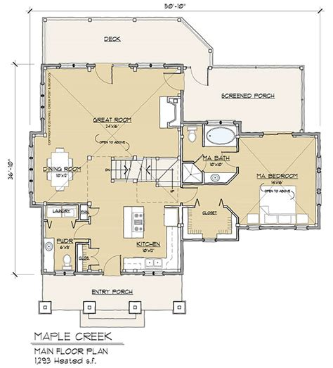 timber frame floor plans maple creek timber frame floor plan by mill creek