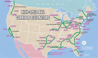 high speed rail map high speed rail corridors map