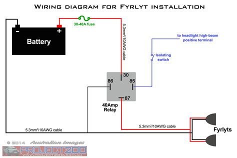 driving light relay diagram how to wire a light switch diagram with narva spotlight