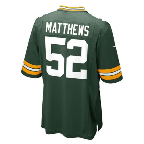 packers jersey nike clay matthews green bay packers limited jersey in green for lyst