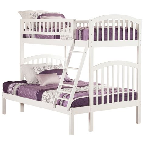 white full bunk beds richland twin full bunk bed white ab64202