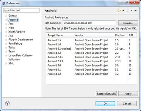 tutorial android development eclipse tutorial android setting the development environment