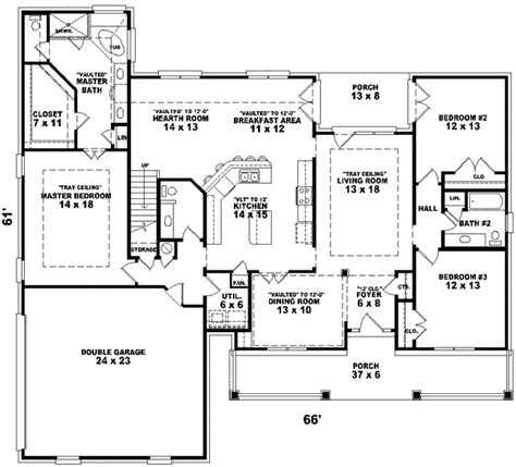 2300 sq ft house plans country style house plans 2300 square foot home 1 story 3 bedroom and 2 bath 2