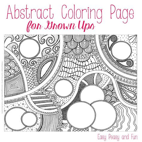easy peasy coloring pages free abstract coloring page for adults coloring circles