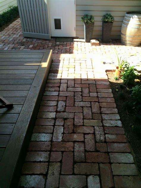 Recycled Patio Pavers Recycled Brick Paving Outdoor Spaces Garden Ideas Pinterest Utomhus Och Inspiration