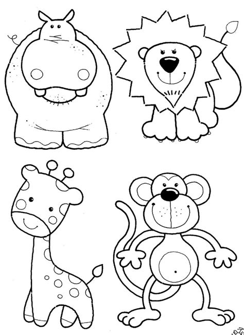 printable animals for toddlers fish sea animals coloring pages for kids printable