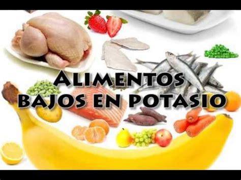 alimentos bajos en potasio youtube