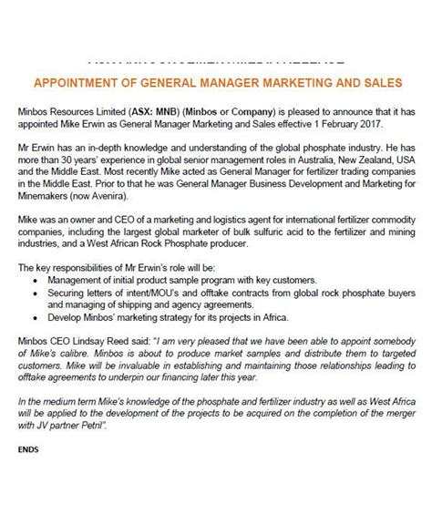 appointment letter general manager sle 100 appointment letter sle for business development