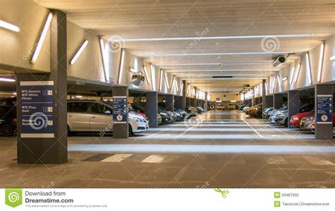 Parking Garage Near World Trade Center parking garage wtc the hague editorial photography image