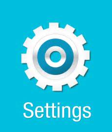 Blue Dining Room free vector graphic settings gears icon symbol free