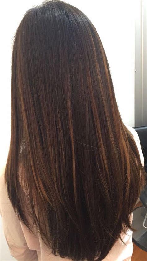 haircuts for long straight dark brown hair balayage black hair straight www pixshark com images