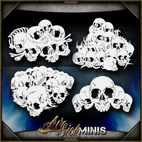 skull templates for airbrushing airbrush kit collection on ebay
