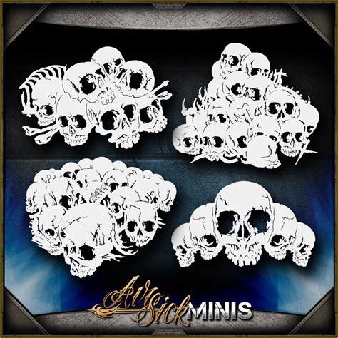 airbrush skull templates airbrush kit collection on ebay