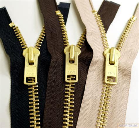 Jaket Zipper ykk 174 10 brass separating jacket zippers 1 slide in ykk 174 zippers sewing supplies alteration