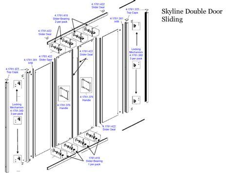 Daryl Shower Door Spares Daryl Skyline Sliding Door Shower Spares And Parts