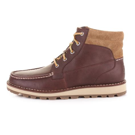 mens sperry dockyard chukka brown leather boat deck shoes