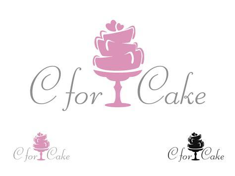 logo for cake decorating business c for cake logo design