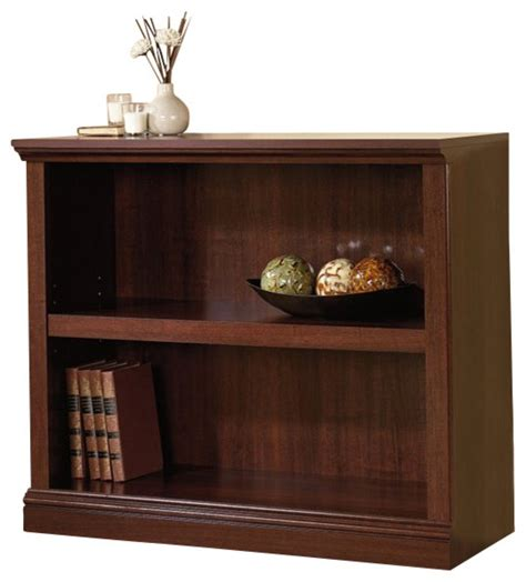 Sauder 2 Shelf Bookcase Sauder Select 2 Shelf Bookcase In Select Cherry Transitional Bookcases By Homesquare