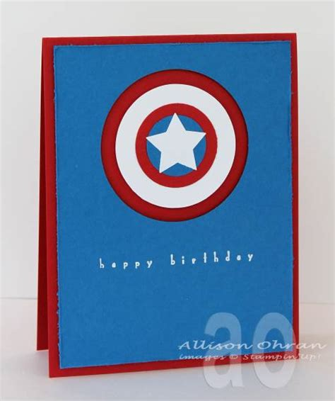 Captain America Birthday Card Captain America Birthday By Alliohran Cards And Paper