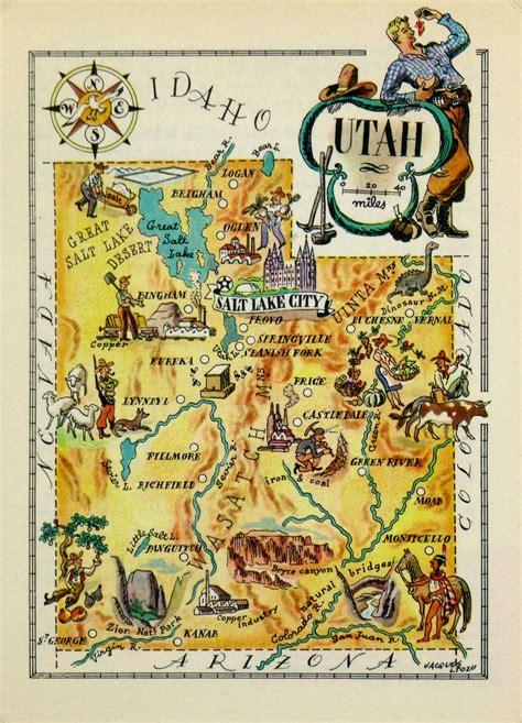 utah pictorial map