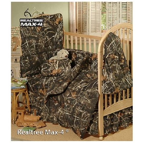 buy realtree max 4 camo 6 crib set and matching