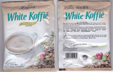 White Coffee Luwak 1 Karton coffee white koffie white koffie instant coffee