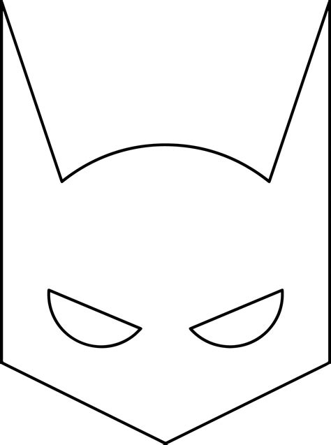 batman mask pages coloring pages