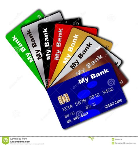 Gift Card Debit - credit card fan stock illustration image 54666418