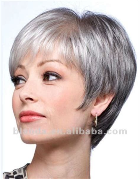 grey hair with with in the front grey human hair short bob style lace wig buy human hair