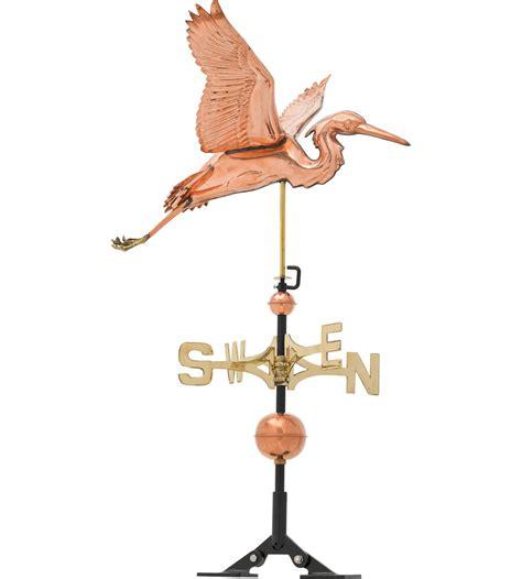 Copper Weathervane Heron Copper Weathervane In Weathervanes