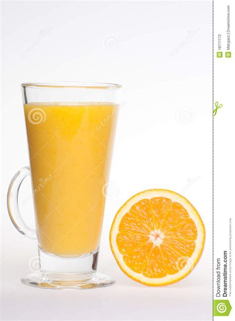 refreshing fresh home made orange juice drink stock