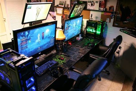 Computer Gaming Room Nice Gaming Setup Home Pc Layouts Pinterest Gaming