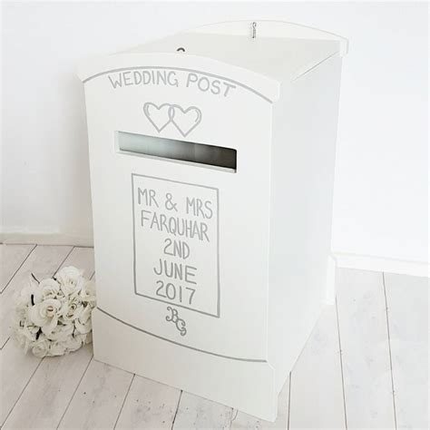 wedding card post box next day delivery lockable wooden wedding post box by lindleywood