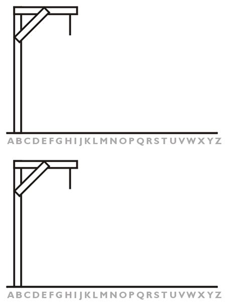 hangman template hangman word gallows alphabet
