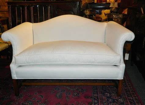 Places That Reupholster Furniture Pair Of Chippendale Style Camelback Sofa Or Settees