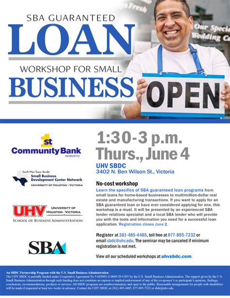 Small Home Based Business Loans Sba Guaranteed Loan Workshop