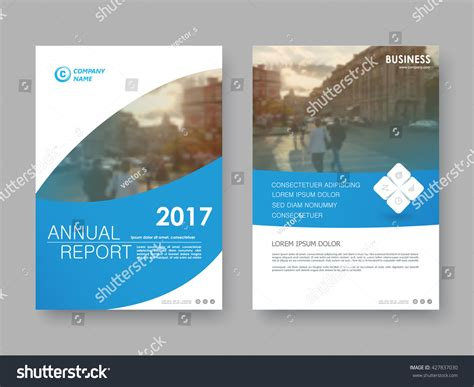 annual report flyer presentation brochure front stock