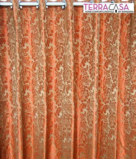 rust curtain panels terracasa brown rust floral curtain panel buy