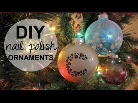diy holiday ornaments  nail polish youtube