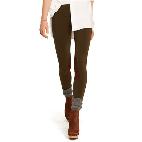 Legging Polos T3009 1 polo ralph suede patch jodhpur legging in green lyst