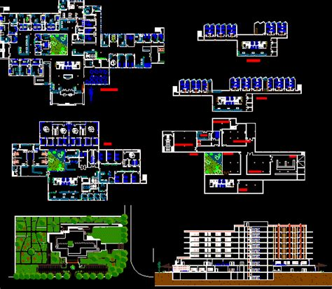 hospital laundry layout plan cad dwg general hospital 120 beds 6 storeys dwg section for