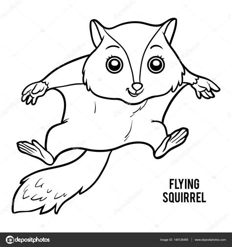 coloring page flying squirrel flying squirrel coloring page clipartsco sketch coloring page