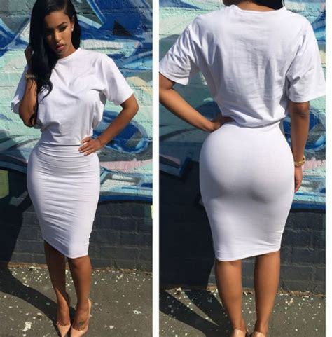 Tight T Shirt dress dresses white white dress midi dress