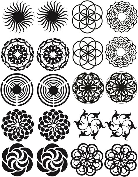 radial pattern in art radial pattern blasting stencils abr imagery inc