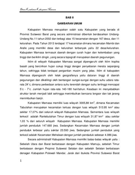 Undang Undang Desa Kelurahan Dan Kecamatan Revisi 2014 profil kesehatan kabupaten mamasa 2014
