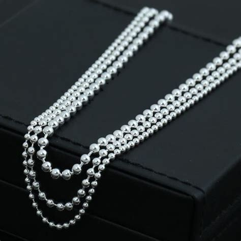 sterling silver bead chain 2 3 mm sterling silver bead chain jewelry1000