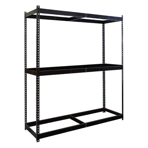 shelving black rivetwell boltless shelving metal