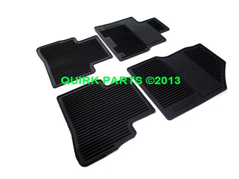 Nissan Murano Rubber Floor Mats by 2009 2012 Nissan Murano All Season Rubber Floor Mats Set