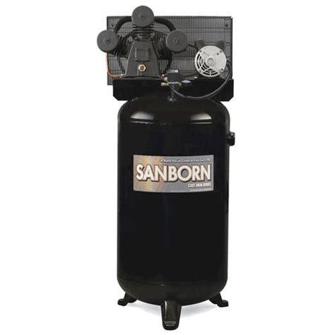 sanborn 80 gallon vertical stationary air compressor single stage at menards 174